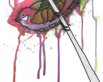 """Art print """"Bird fig. 3"""""""
