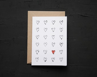 Hearts - Love Card - Anniversary Card - Birthday Card - Note Card - Blank Card - Cards