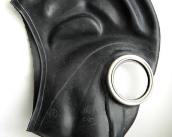 Soviet Military Gas Mask GP5 Black Soviet Vintage USSR . All sizes