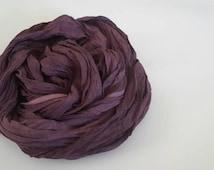 Burgundy scarf - Cotton gauze scarf - Stonewashed wrap - Wrinkled wrap - Woman spring scarf -  Oversized Scarf - Unisex Fashion accessories
