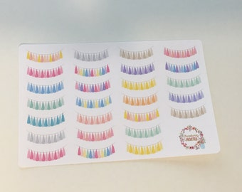 Tassel Banners in Pastels - Happy Planner & Planner Stickers