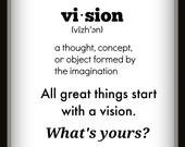 Motivational Wall Quote; Vision Digital Wall Art, Instant Download, Inspirational Room Decor Poster, Digital Print Art, Office Wall Art