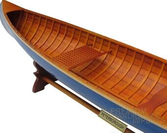 "24"" Handcrafted Peterborough Canoe - Dark Blue"
