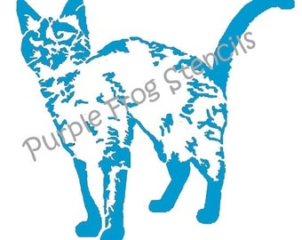 Siamese Cat STENCIL (Reusable)Different Sizes and thickness available