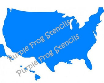 Map USA  Stencil  Different Sizes Available