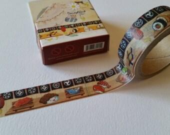 Kawaii Sushi House Washi Tape