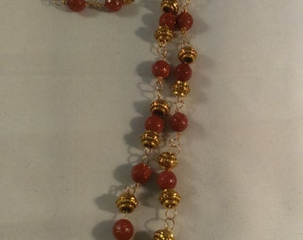 Gold Stone Linked Necklace