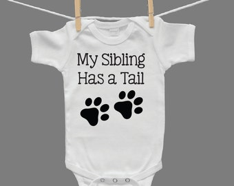 My Sibling Has a Tail Gender Neutral Baby Infant Bodysuit