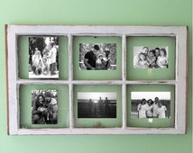 Window Pane Picture Frame 4x6, 5x7 Photo Antique Rustic ON SALE