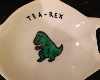 Dinosaur T Rex Tea Bag Tidy