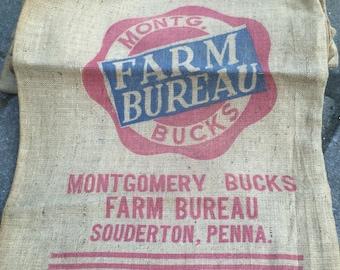 Farm Bureau Burlap feed bags