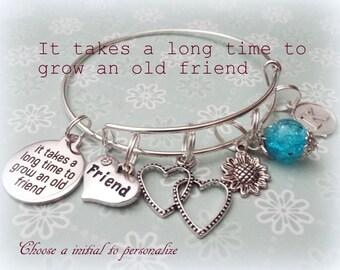 Best Friend Gift, Best Friend Charm Bracelet, Gift for Old Friends, Birthday Gift for Friend, Personalized Gift, Best Friends