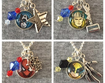 Handmade Comic Inspired Necklaces