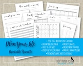 Plan Your Life Printable Home Organizing Bundle - Calendar, Daily, Weekly, Planner, Menu Planner, Password Tracker - Instant Download