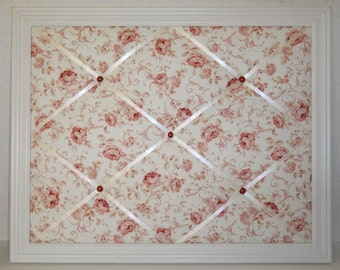 Shabby Chic Red Rose Framed Memo Board