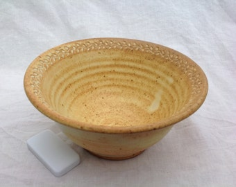 cereal bowl ice cream soup yellow handmade ceramic bowl 2 1/2 cup 22 oz