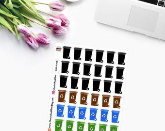 Mini Recycling Bins Planner Stickers - CAM00108