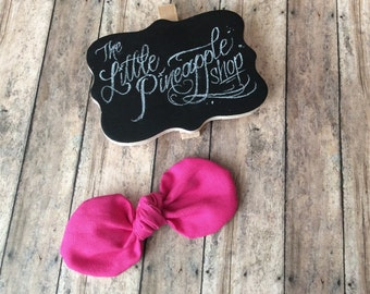 Hot pink knot bow