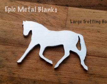 Large Trotting Horse Aluminium Blank, Horse Stamping Blank,Metal Stamping, Horse, Aluminum Blanks, Horse jewellery, aluminium Horse Blank