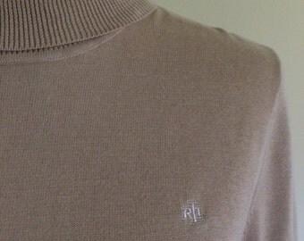 Sweater turtleneck golden beige Ralph Lauren by Dorila Clothes