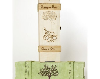 Extra Virgin Olive Oil Cold Pressed  with OOAK Panted Gift Box