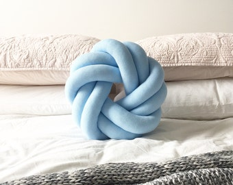 Circle Round Baby Blue Petite Knot Cushion