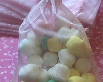 12pcs Organza Bags Pink 6*4inch