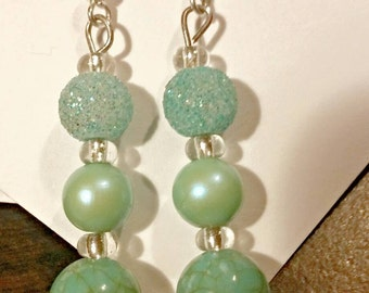 Hand made turquoise earrings one of a kind