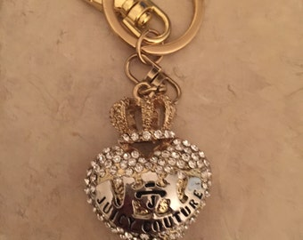 Cute Juicy Handmade Keychain Purse Charm With Rhinestones Crystals Ship From NY