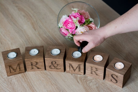 Mr Mrs Wedding Gifts: Mr And Mrs Home Decor Wedding Gift For The Couple Wooden