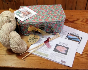 Boxed Alpaca Knitting Kit