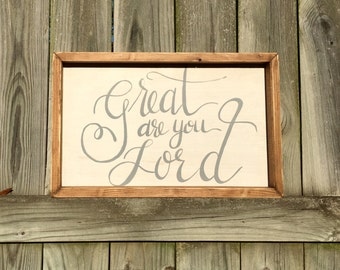 Great Are You Lord   Medium Rustic Sign   Home Decor   Mantle Sign   Gallery Wall