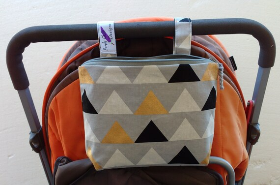 Pram caddy / pram organiser / mini wet bag / Makeup Bag-Buzoku Triangles Cotton Duck Multicoloured