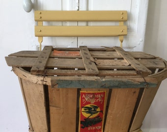Vintage French wooden clementines crate