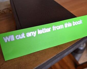 Readers Digest Book Letter-Solid Brown