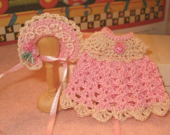 Handmade Crochet Doll Dress for Miniature Doll Ooak