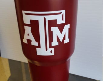 YETI  30oz Yeti Rambler tumbler Texas Aggies COLLEGE FOOTBALL personalized with decals