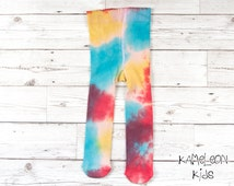 Rainbow Baby Tights, Hand Dyed Cotton Rainbow Tights up to 2 years - Kameleon Kids Baby Boutique, Unique Cool Baby Clothes Unisex Baby Gifts