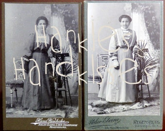 CDV original Edwardian portrait photographies. Germany 1910 - 1920