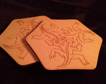 M.C. Escher Lizards Coaster Set of 4