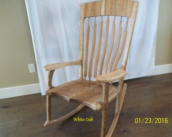 White Oak Rocking Chair