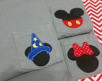 Comfort Colors Mr and Miss Mouse Pocket Designs