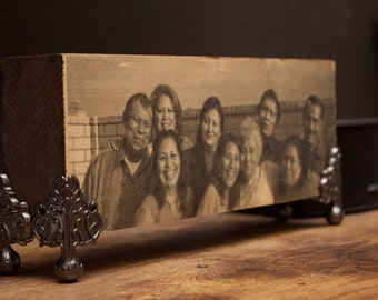 Family Portrait On Wood