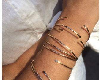 Set of 3 Open Bangle Bracelet, Cuff Bracelet,Gold Cuff Bracelet