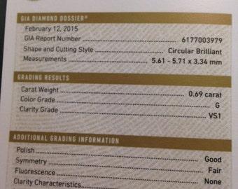 G.I.A Certified Diamond