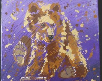 3d Acrylic Bear Cub