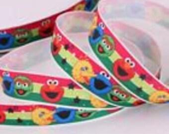 """7/8"""" Grosgrain Elmo Ribbon"""