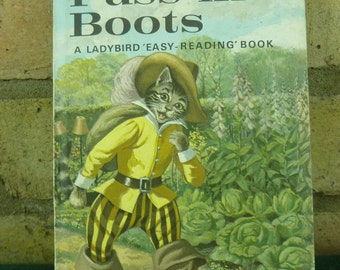 Vintage Ladybird book Puss in Boots 606D Well loved tales price 30p #2