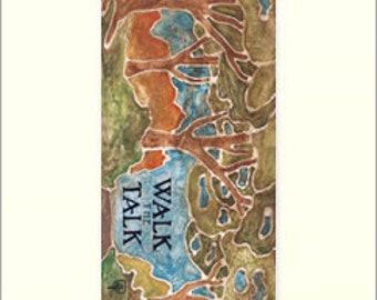 Walk the Talk: Matted Giclée Art Print by The Bungalow Craft by Julie Leidel (Arts & Crafts Movement)