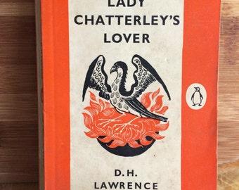Lady Chatterley's Lover - D H Lawrence - vintage Lawrence - vintage Penguin - Banned Book - Romantic novel